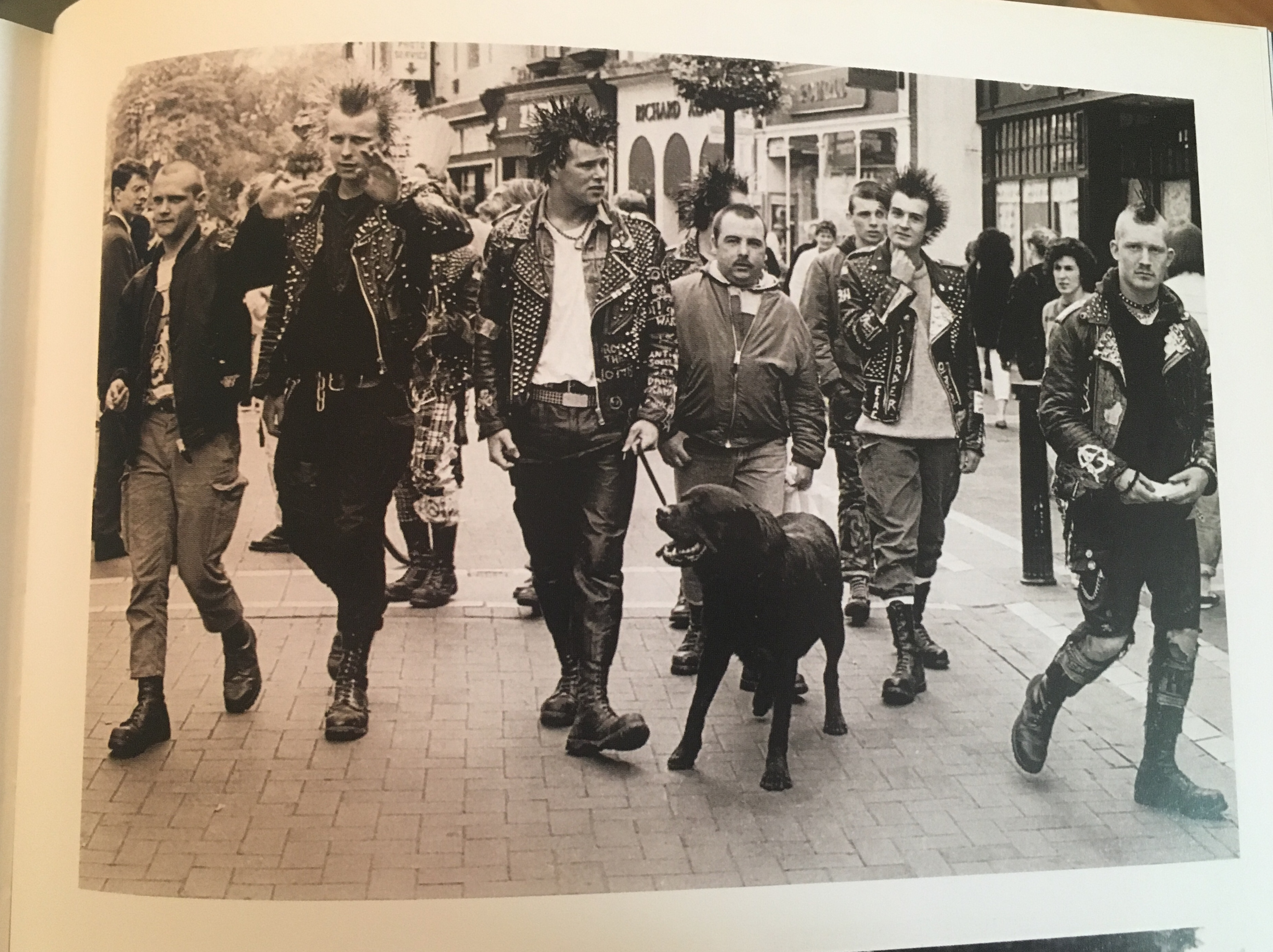 Punks on Grafton Street, c.1991 from the wonderful Where Were You? Dublin Youth Culture and Street Style by Gary O'Neill